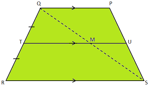 Midpoint Theorem on Trapezium