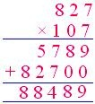 multiplication by a 3-digit number