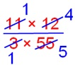 Multiplication of a Fraction by a Fraction