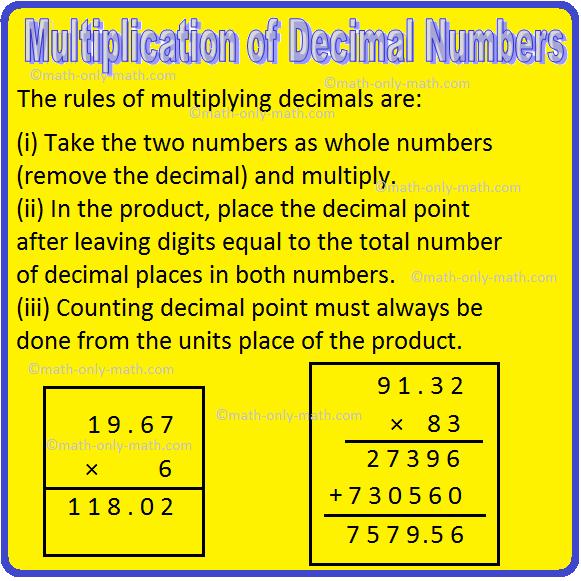 Multiplication of Decimal Numbers