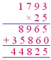 Multiply 4-digit by 2-digit Numbers