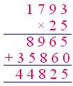 Multiply 4-digit by 2-digit Numbers