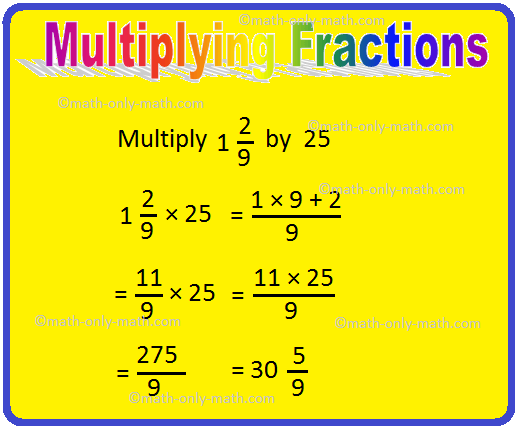 Multiplying Fractions Examples