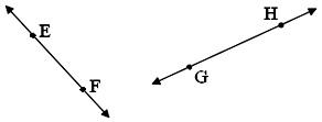 Oblique or Slanting Lines