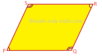 Pair of Opposite Angles are Equal