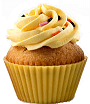 Pictograph Symbol on Cupcake