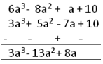 Polynomials Subtraction