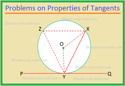 Problems on Properties of Tangents