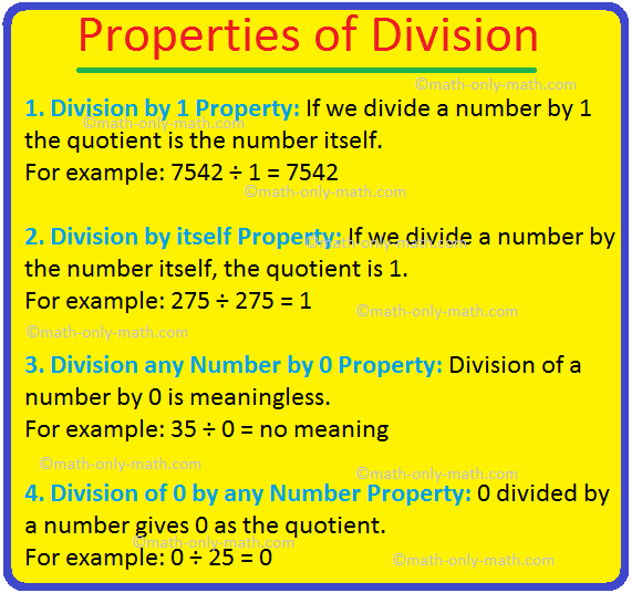 Properties of Division