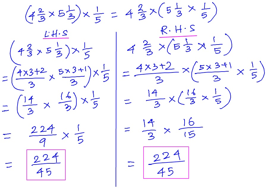 Properties of Multiplication of Fractional Numbers