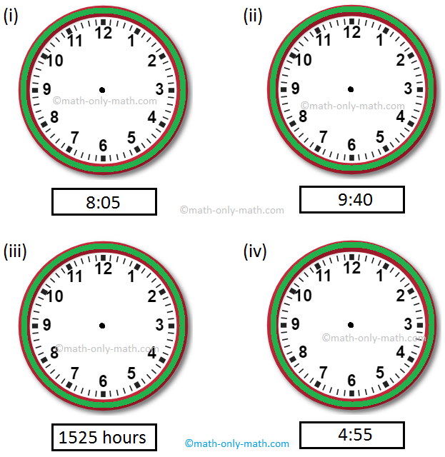 Show the Given Time on the Clock