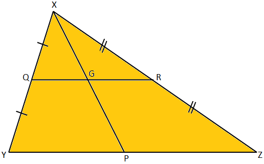 Straight Line Drawn from the Vertex of a Triangle to the Base