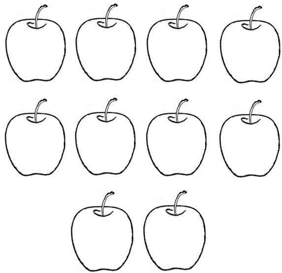 apples coloring pages for preschoolers - photo#23