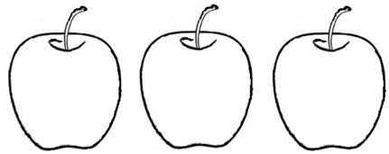 Three How To Write Number 3 Color The Above Apples