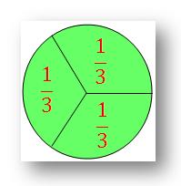 Three Equal Parts of a Circle