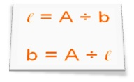 To find Length or Breadth when Area of a Rectangle is given