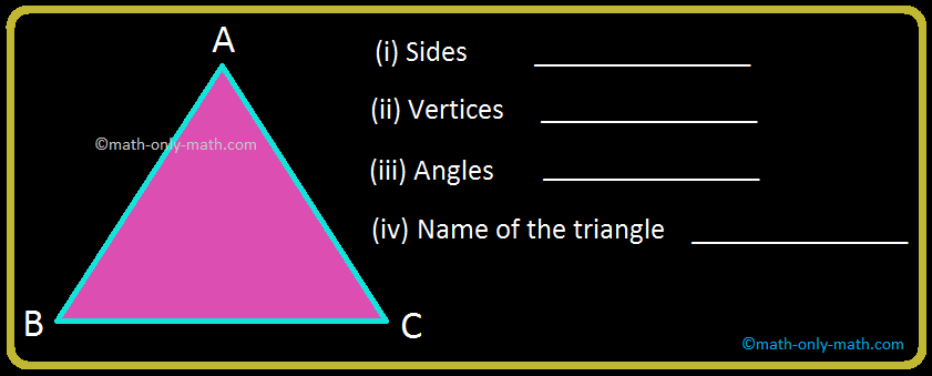 Triangle Vertices, Sides and Angles