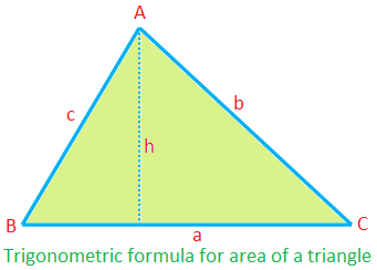 Trigonometric Formula for Area of a Triangle
