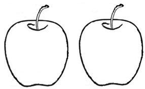 learn to write number 2 color the above apples - Apples Coloring Pages