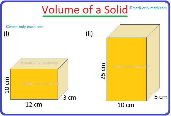 Volume of a Solid