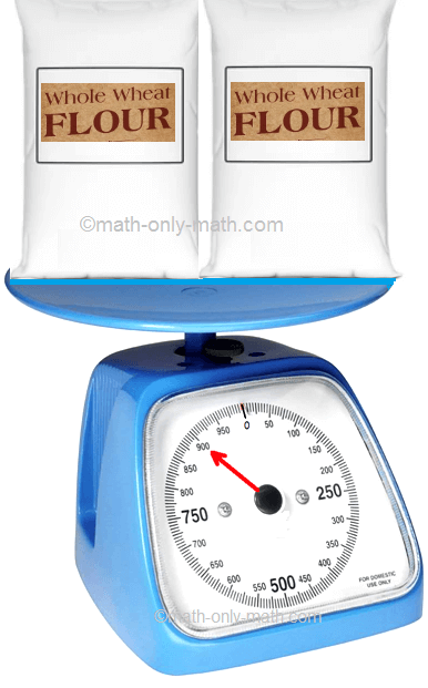 Weight of 2 Bags of Flours