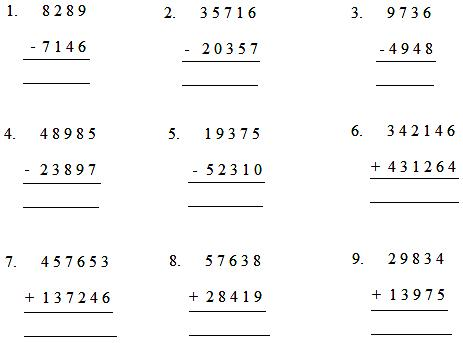 Worksheet by Adding or Subtracting | Worksheet on Addition ...