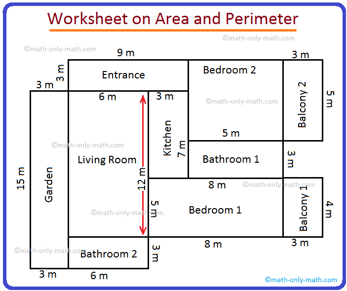 Worksheet on Area and Perimeter