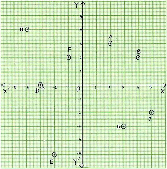Worksheet on Coordinate Point