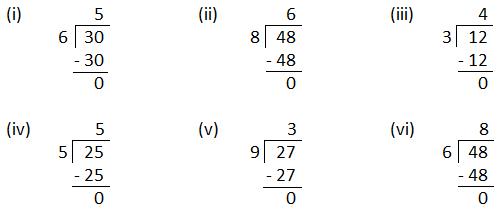 Worksheet on Divide using Multiplication Table