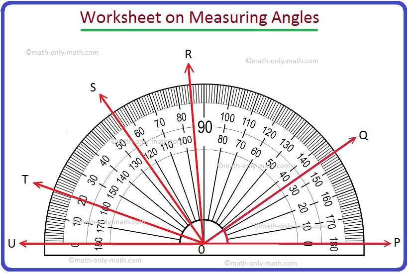 Worksheet on Measuring Angles