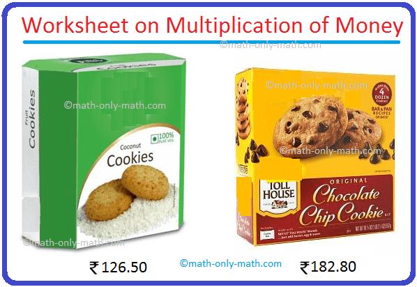 Worksheet on Multiplication of Money