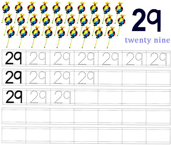 Worksheet On Number 29 Preschool Worksheets. Worksheet On Number 29. Worksheet. Learning Numbers Worksheets At Clickcart.co