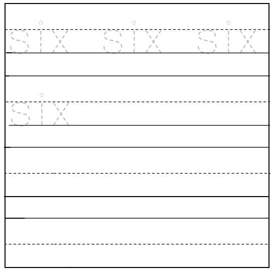 Worksheet on Number Six | Free Printable Worksheet on Number Six