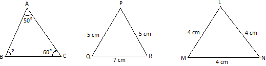 Worksheet on Properties of Triangle