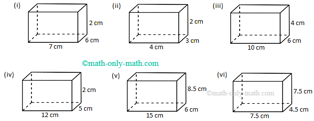 Worksheet on Volume of a Cube and Cuboid | The Volume of a Rectangle Box