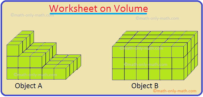 Worksheet on Volume
