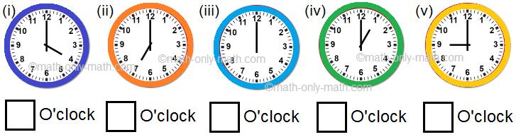 Write the Correct Time