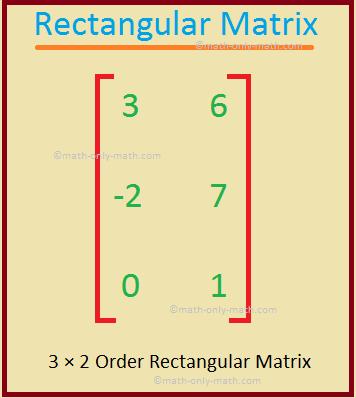 3 × 2 Rectangular Matrix