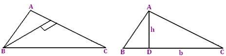 area and perimeter of the triangle