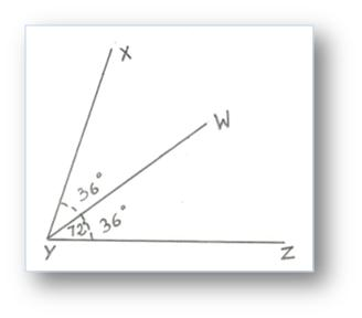 Bisecting an Angle Using a Protractor