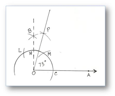 Construction Of Angles By Using Compass Construction Of Angles