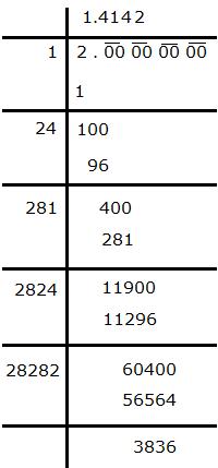 Decimal Representation of Irrational Number