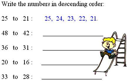 Ascending Order or Descending Order |Bigger to Smaller number ...