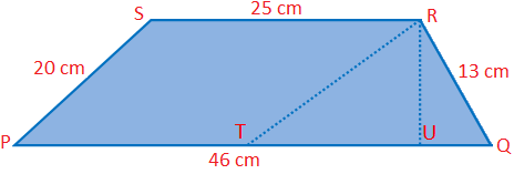 Distance between the Parallel Sides of the Trapezium