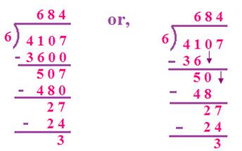 Divide Four-Digit by a One-Digit