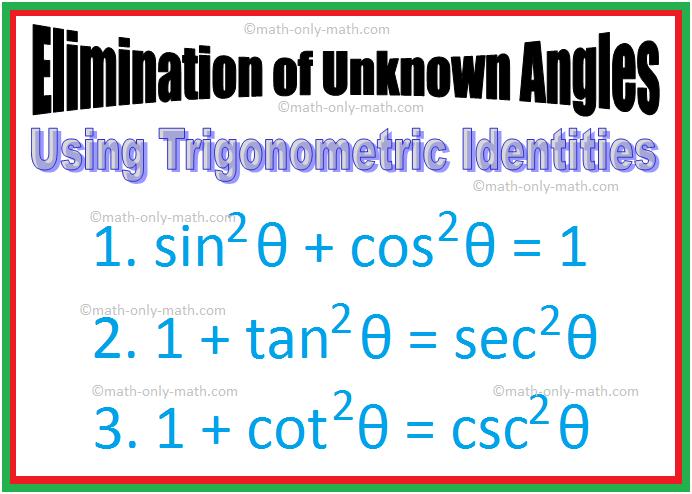 Elimination of Unknown Angles | Using Trigonometric Identities