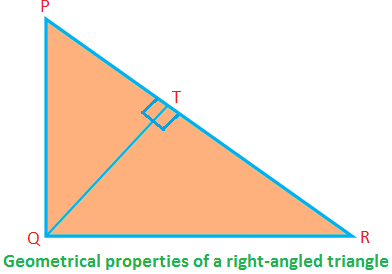 Geometrical Properties of a Right-angled Triangle