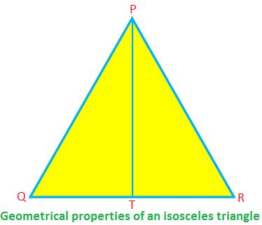 Geometrical Properties of an Isosceles Triangle