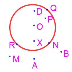 Circle Interior And Exterior Of A Circle Radius Problem On Circle