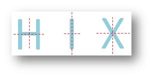 Letter having Two Lines of Symmetry